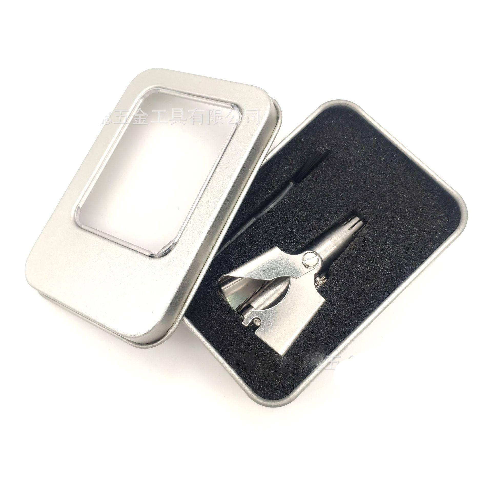 Dụng cụ cắt tỉa lông mũi Kemei 12 lưỡi bằng thép không gỉ cao cấp tiện dụng
