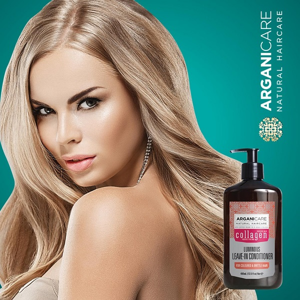 Kem dưỡng tạo kiểu tóc xoăn ARGANICARE COLLAGEN LEAVE-IN CONDITIONER 400ml ISRAEL