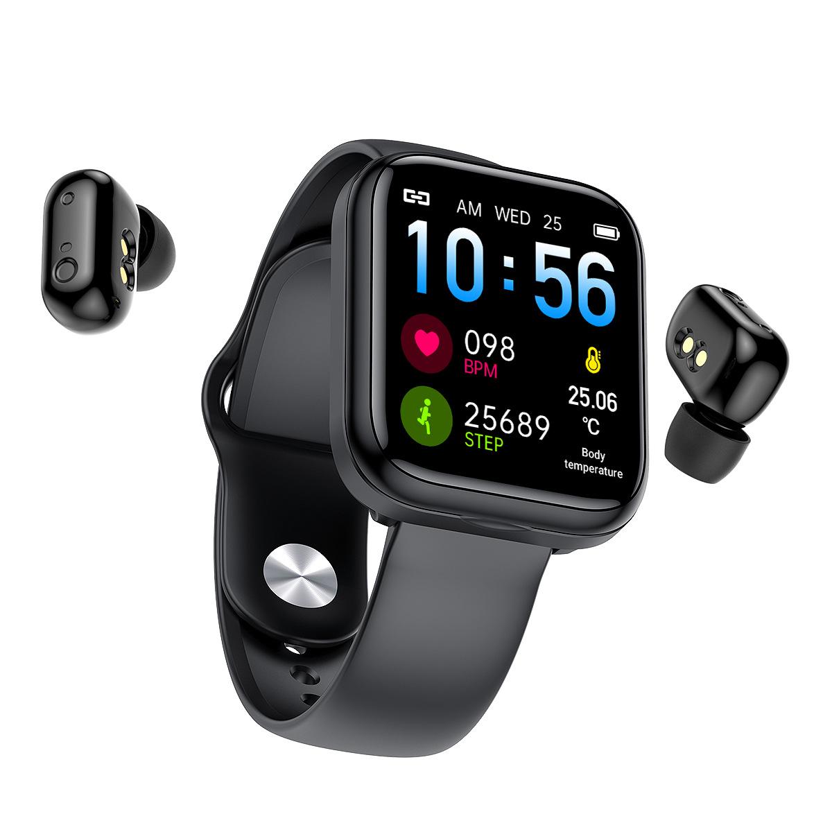 Đồng hồ Thông minh | Tai nghe Bluetooth | Điện thoại Nghe nhạc Luyện tập Thể thao Theo dõi Sức khỏe Vận Động Đo huyết áp Nhịp tim AMA Watch X5 Chính hãng