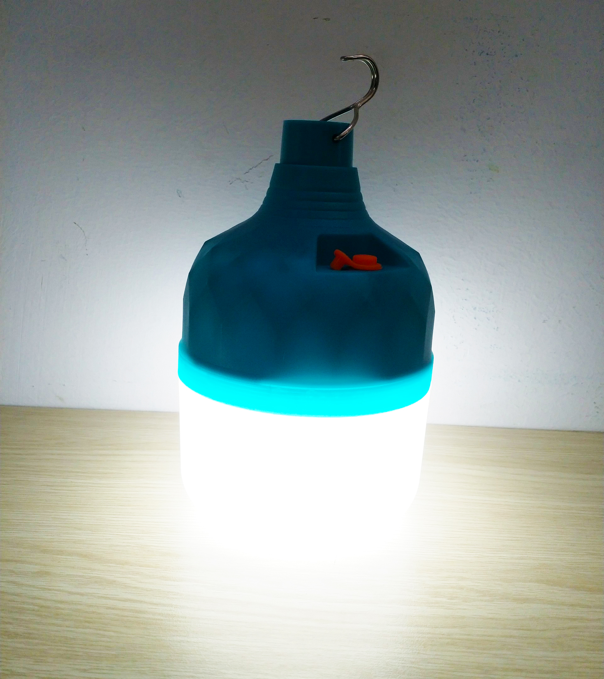 Đèn sạc tích điện hình trụ công suất 50W 3 chế độ cho quán ăn đêm - Màu xanh dương - Bóng led tiết kiệm điện