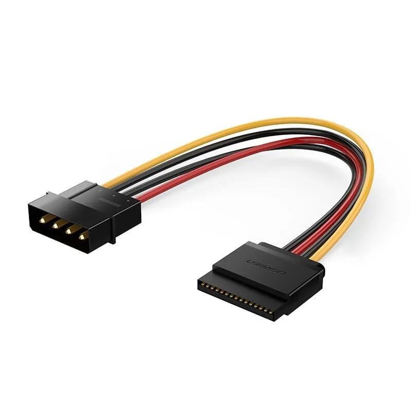 Cáp nguồn SATA 15Pin chuyển sang 4Pin cấp nguồn cho ổ cứng SSD, ổ đĩa quang DVD 20cm UGREEN USB50720Us127 Hàng chính hãng