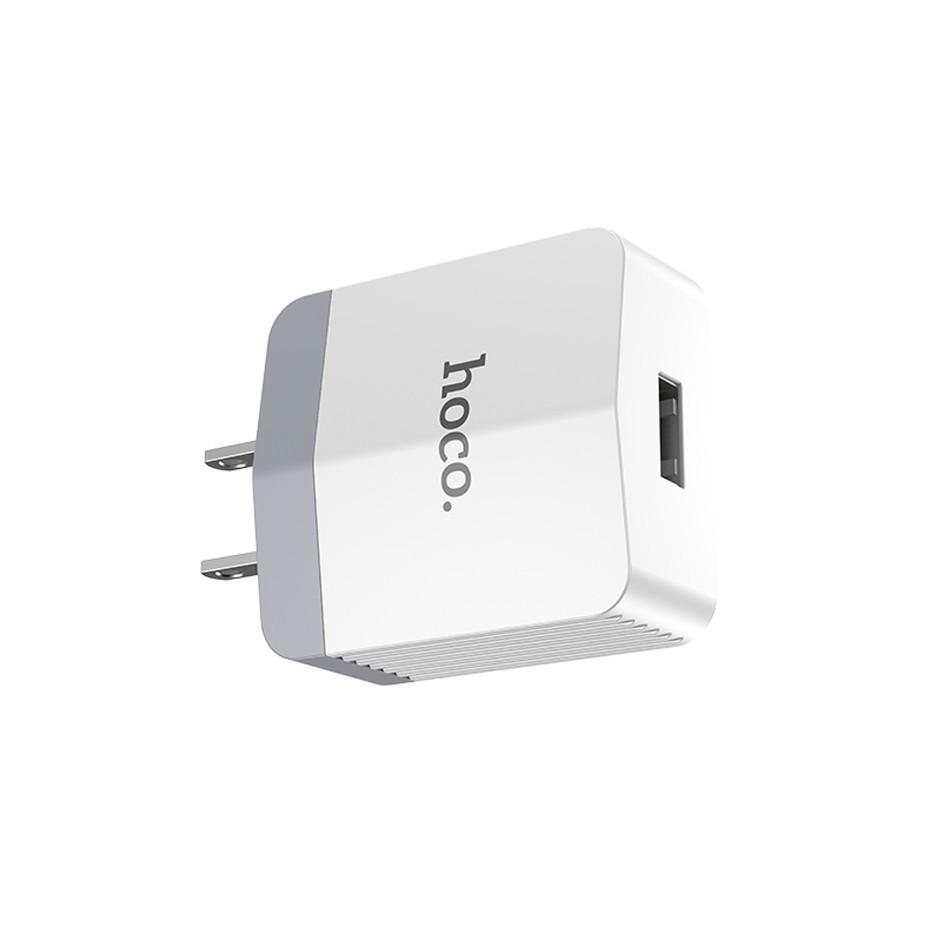 Cốc sạc Hoco C13A hỗ trợ sạc nhanh 2.4A cho iPhone/iPad/Samsung/Huawei/Xiaomi/Android - Hàng chính hãng