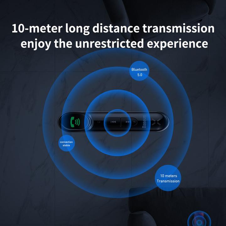 Bộ Bluetooth Receiver nhãn hiệu Baseus WXQY-01 Qiyin AUX dùng cho xe hơi, loa, tai nghe với giao diện AUX 3,5mm - Hàng Nhập Khẩu