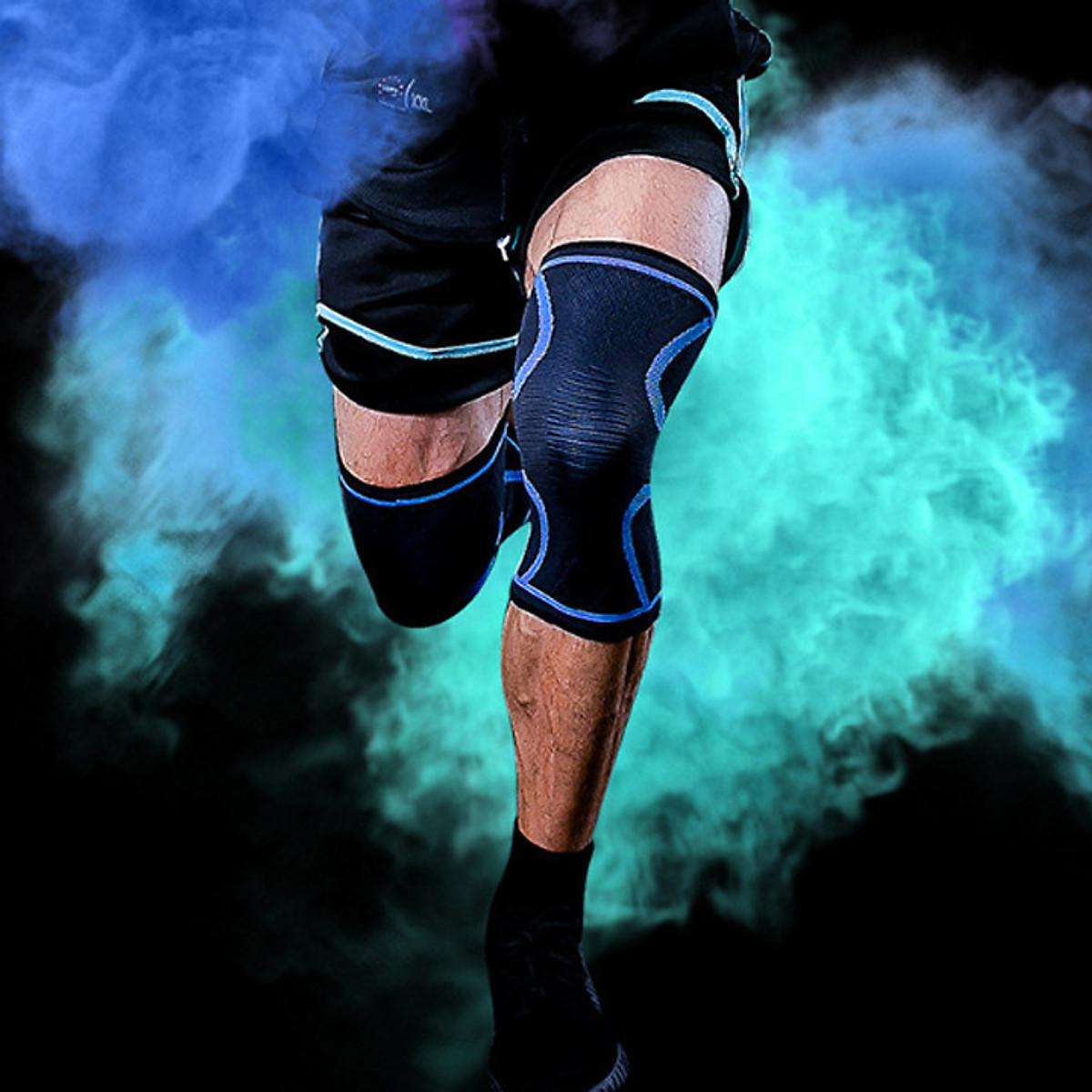 Đai bó gối đàn hồi bảo vệ đầu gối khi chơi thể thao 1 đôi