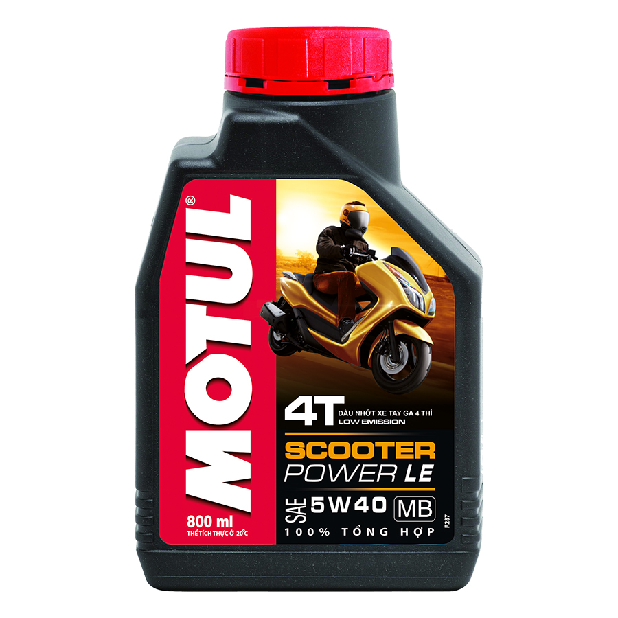 Nhớt Xe Tay Ga Motul Scooter Power Le 4t 5w40 20x0.8l Vn (800ml)