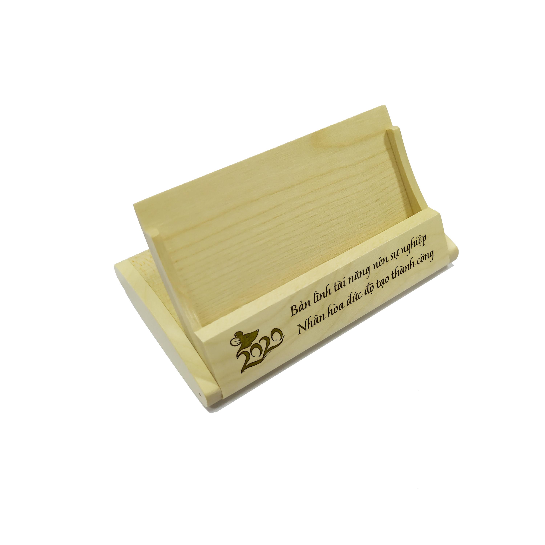 Hộp gỗ đựng danh thiếp - mẫu 02