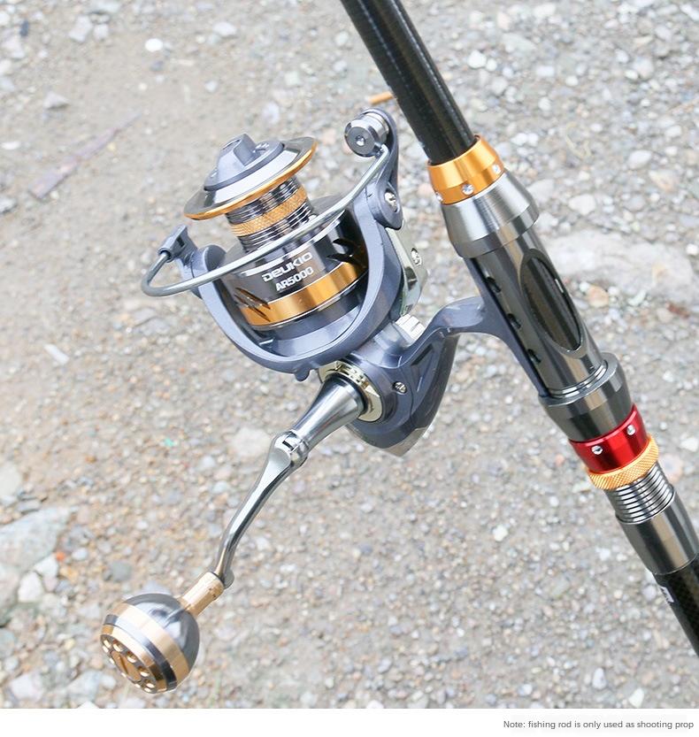 Bộ cần câu cá Chính hãng Deukio - Cần 2m7 kèm Máy kim loại AR 5000 - Tặng 9 phụ kiện
