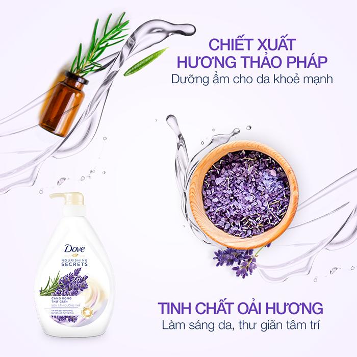 Combo 2 Sữa Tắm Dove Căng Bóng Thư Giãn 530g