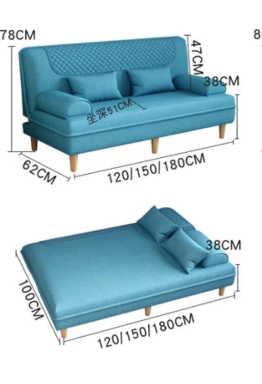 Sofa đôi phòng khách - ghế ngồi kèm giường nằm đa năng, 2 in 1 (kt 62x120x51cm)