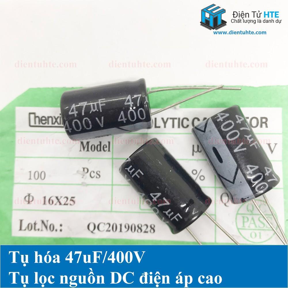 Bộ 4 tụ điện 47uF 400V 16x25mm