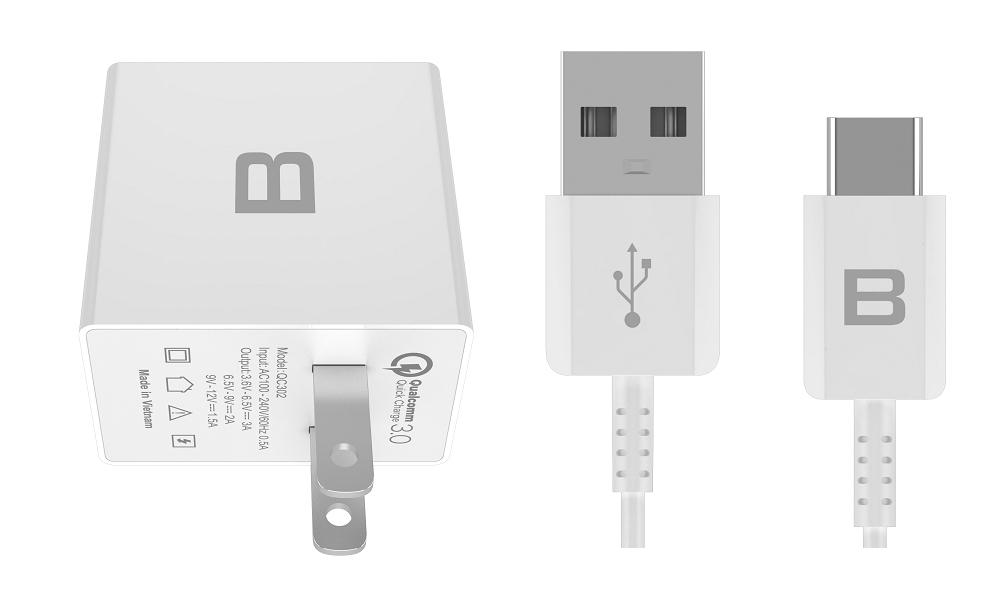 Dây cáp sạc Bphone USB to Type C - Hàng chính hãng