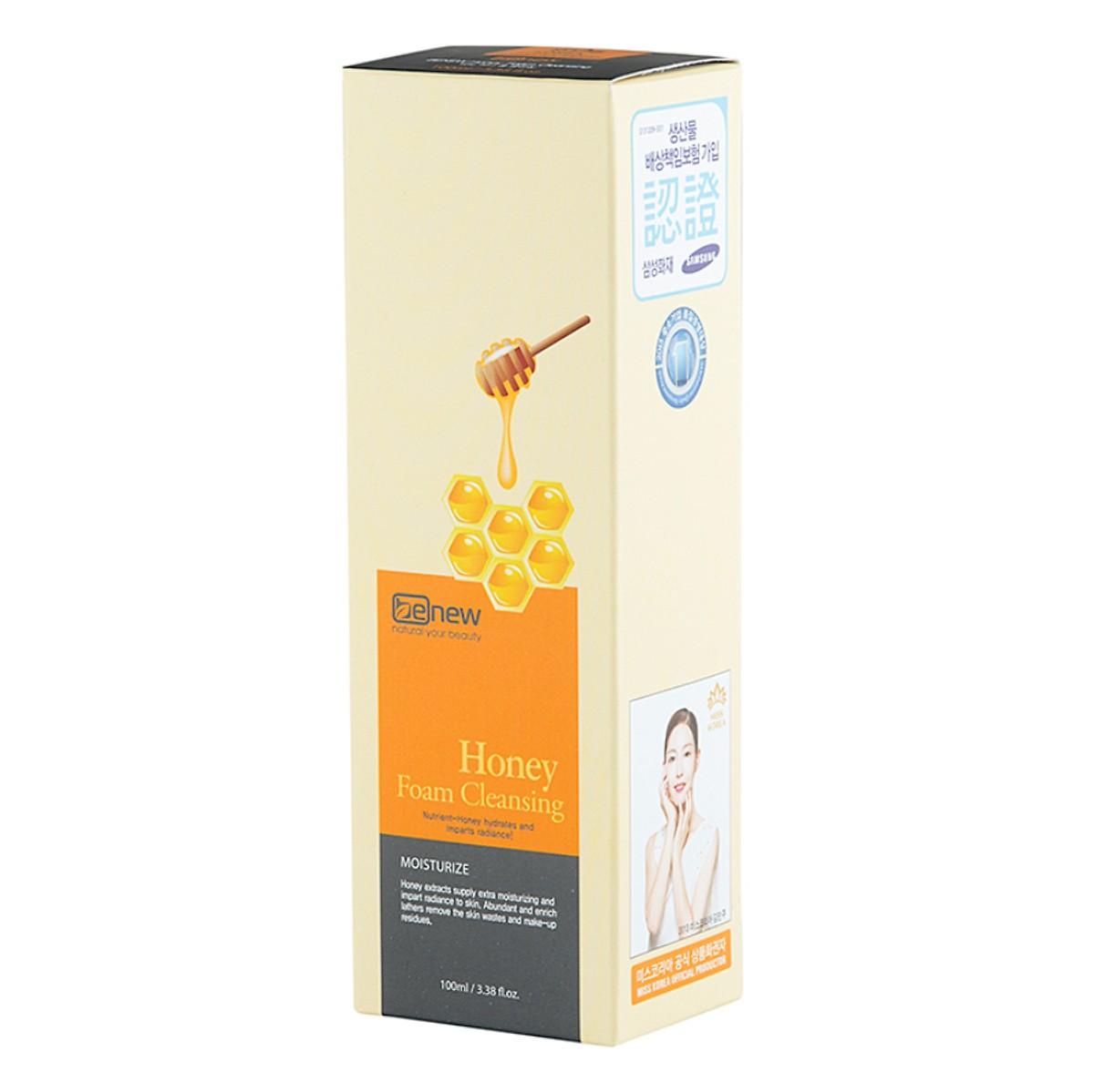 Sữa rửa mặt mật ong sạch nhờn ngừa mụn cao cấp Hàn Quốc Benew Honey Foam Cleansing (100ml) – Hàng Chính Hãng