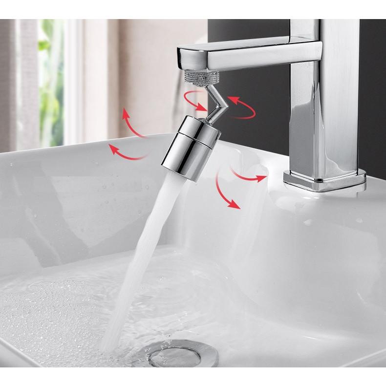 Đầu nối nối vòi nước thông minh xoay 720 độ tăng áp lực nước phù hợp với nhiều loại vòi - V720