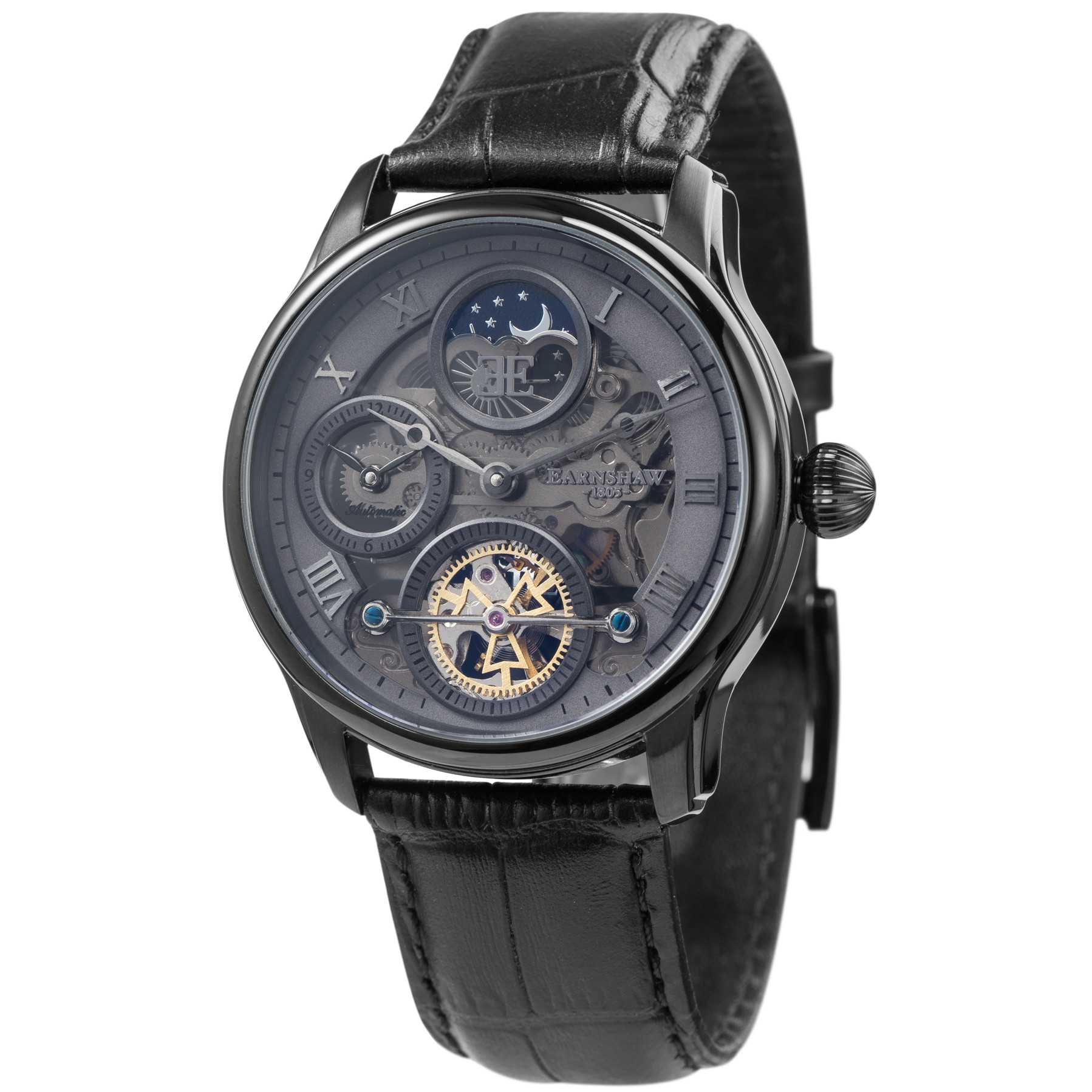 Đồng hồ nam dây da chính hãng Thomas Earnshaw ES-8063-03