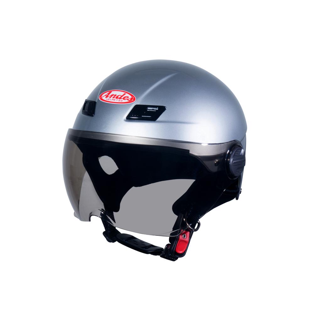 Mũ Bảo Hiểm Andes Nửa Đầu Có Kính - 3S109KM Bóng