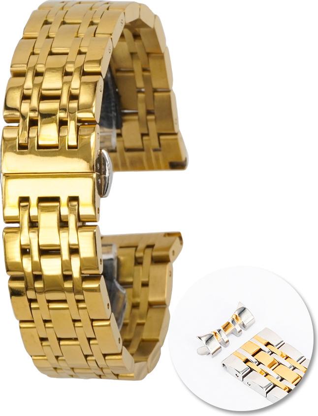 Dây đồng  hồ thép không gỉ cao cấp - Vàng - 20mm