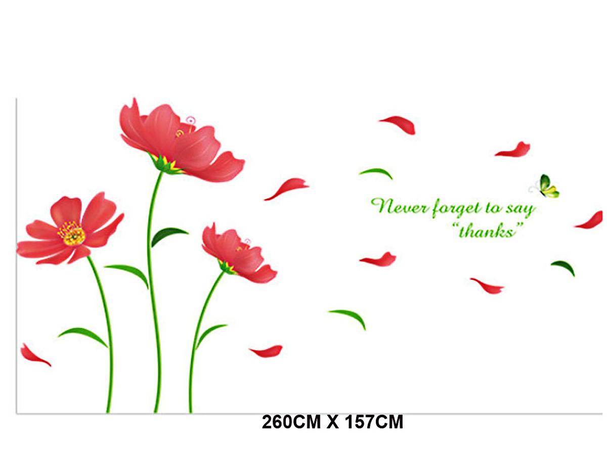 decal dán tường hoa da cam xl8198