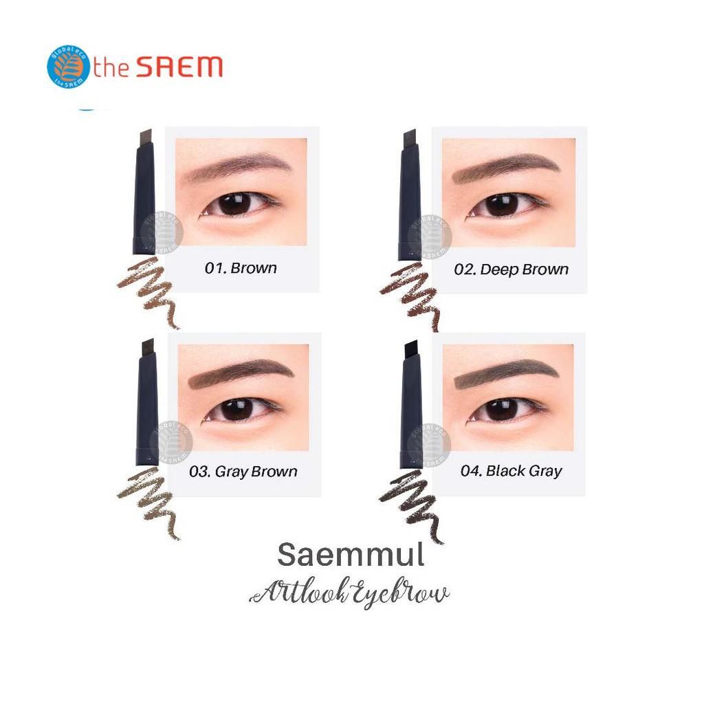 Chì Kẻ Mày Ngang 2 Đầu The Saem Saemmul Artlook Eyebrow (0.2g)