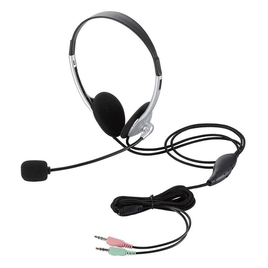 Tai Nghe Có Dây Chụp Tai On-ear Elecom HS-HP22SV Bạc - Hàng Chính Hãng