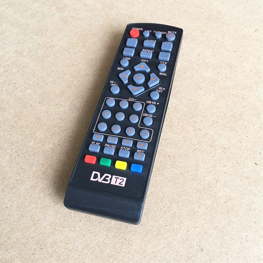 Remote Điều Khiển Dành Cho Đầu Thu Truyền Hình TV KTS Mặt Đất DBV T2 (Kèm Pin AAA Maxell)