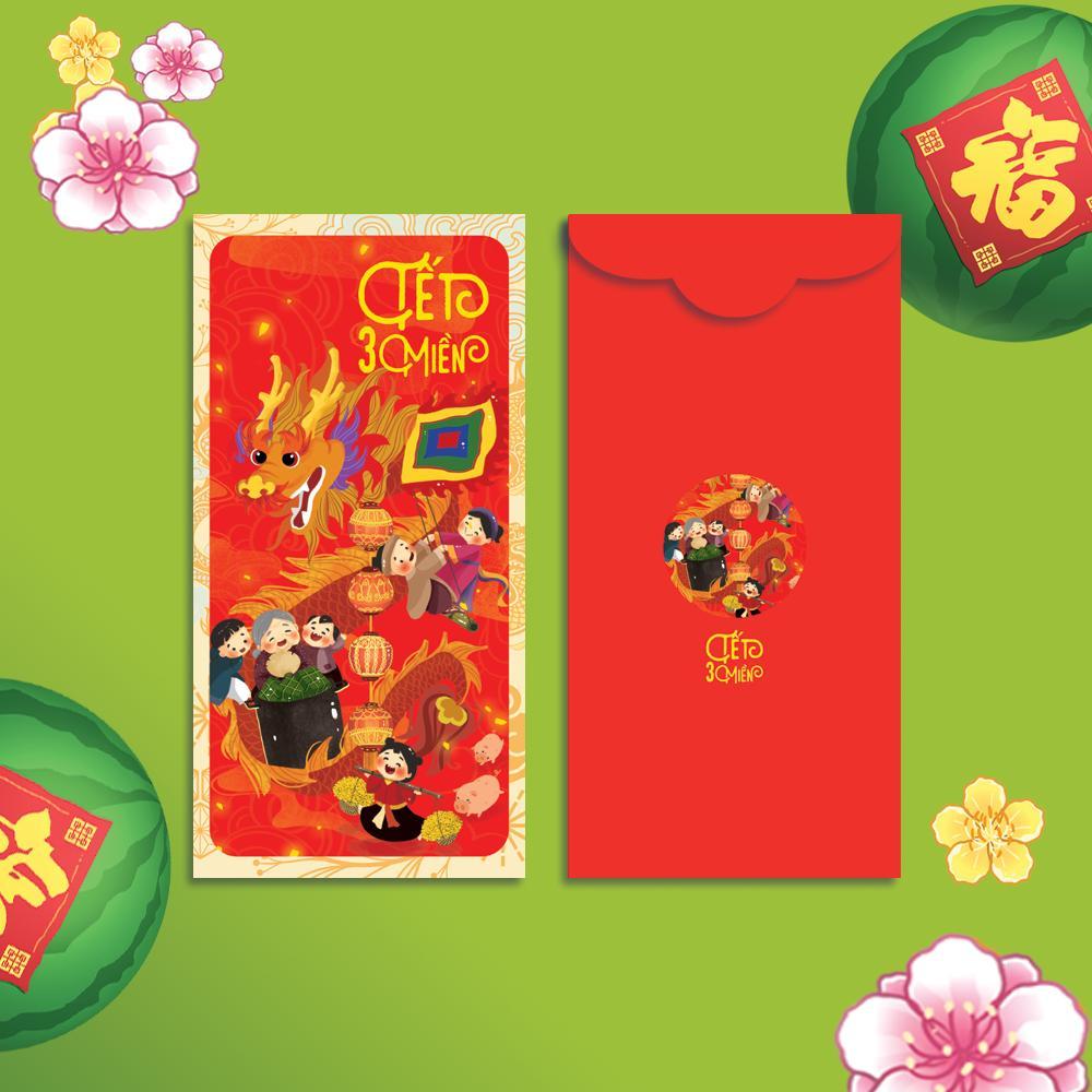 Bao Lì Xì - Bộ combo Tết Ba Miền -  Bao Lì Xì Tết Việt