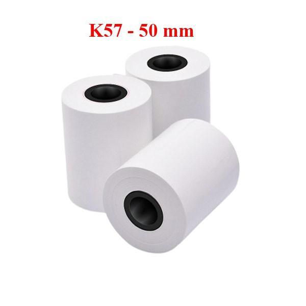20 cuộn giấy in hóa đơn nhiệt k57 phi 50mm hansol