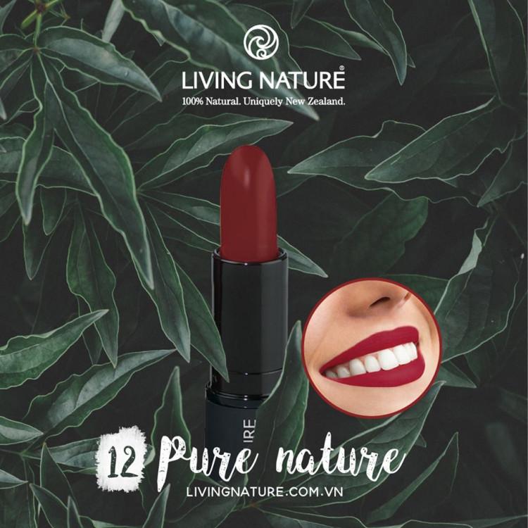 Son môi Living Nature Pure Pasion 12 - ma u đo rươ u 1