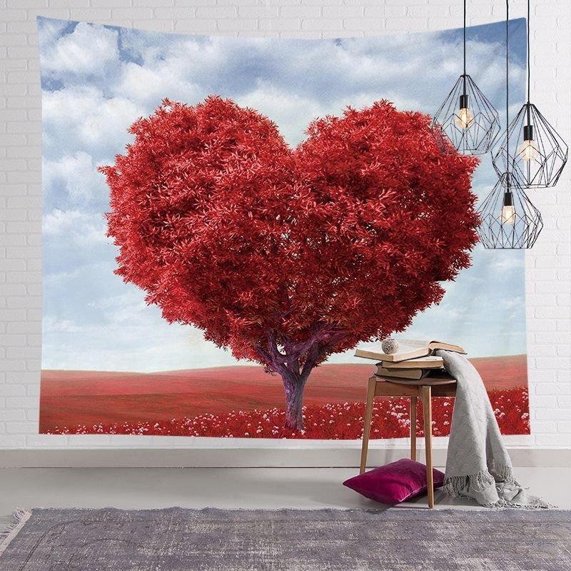 Tranh vải treo tường cây tình yêu lãng mạn