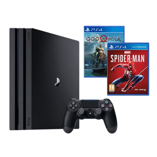 Bộ PS4 Pro 1TB Model 7016b Kèm 2 Game Đỉnh Nhất 2018 ( Spiderman, Godofwar 4) -  Hàng Chính Hãng
