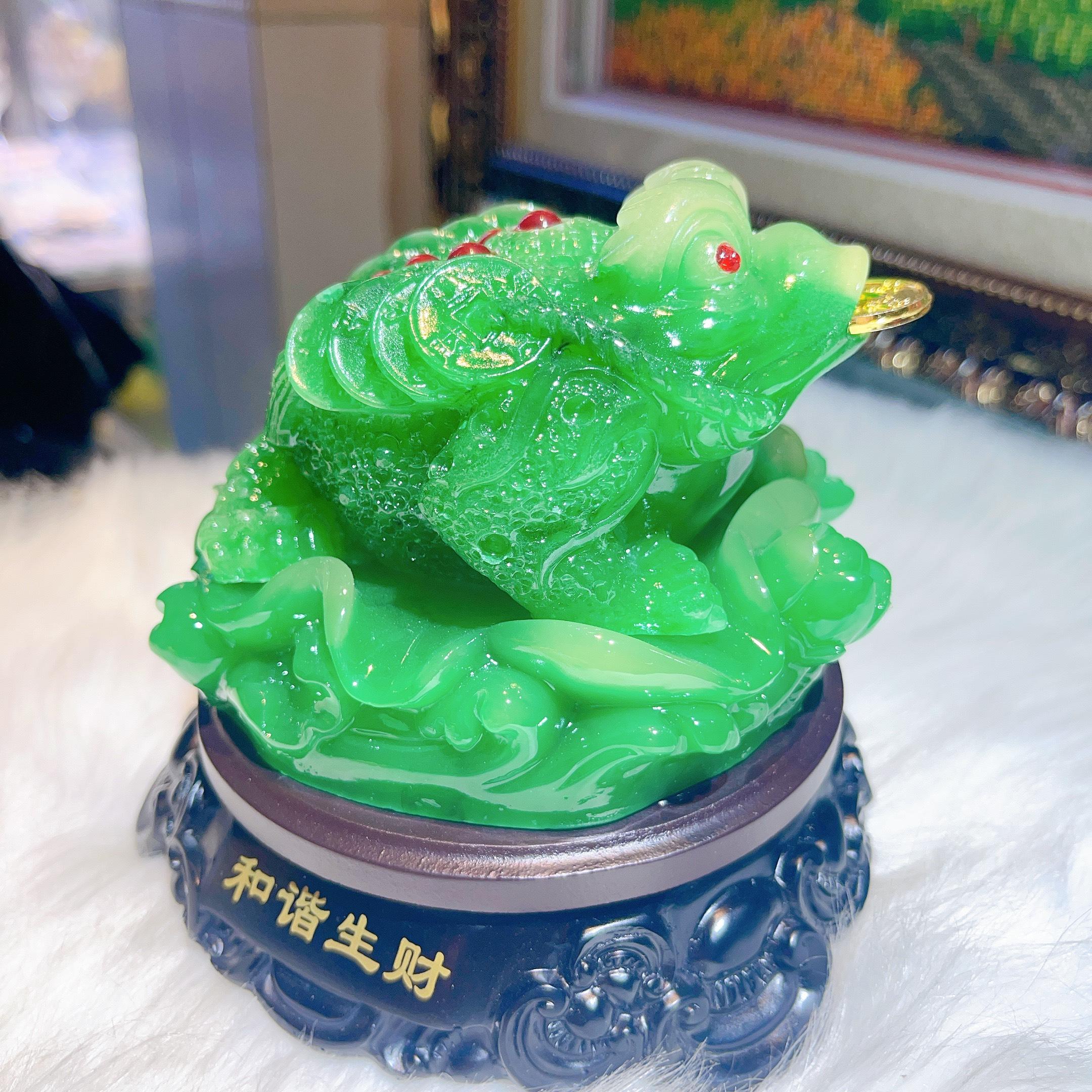 Thiềm Thừ Cóc Ngậm Tiền Phong Thủy Chiêu Tài, Chiêu Lộc Đ.PK043