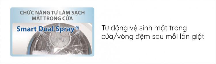 Máy giặt AQUA AQD-D1000C W, 10.0kg, Inverter có Chức năng Smart Dual Spray