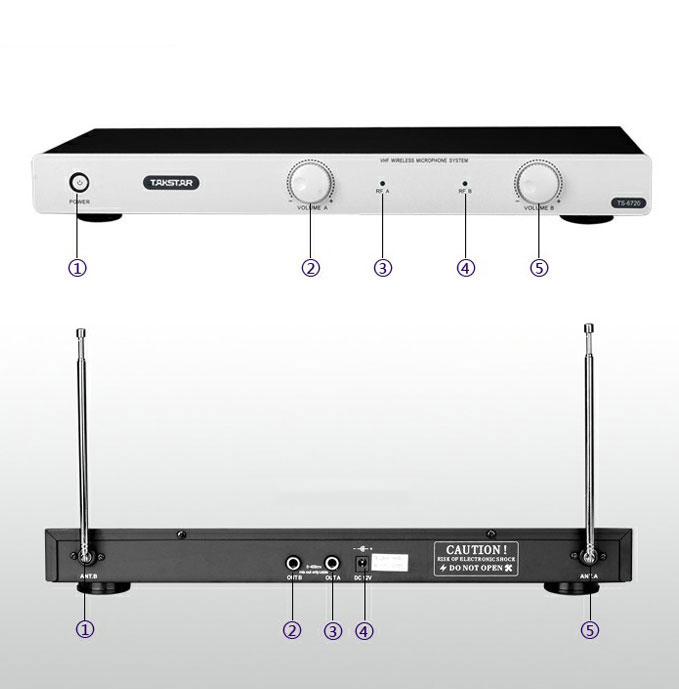 Micro karaoke không dây Takstar TS-6720 ( Trắng)_CHÍNH HÃNG.