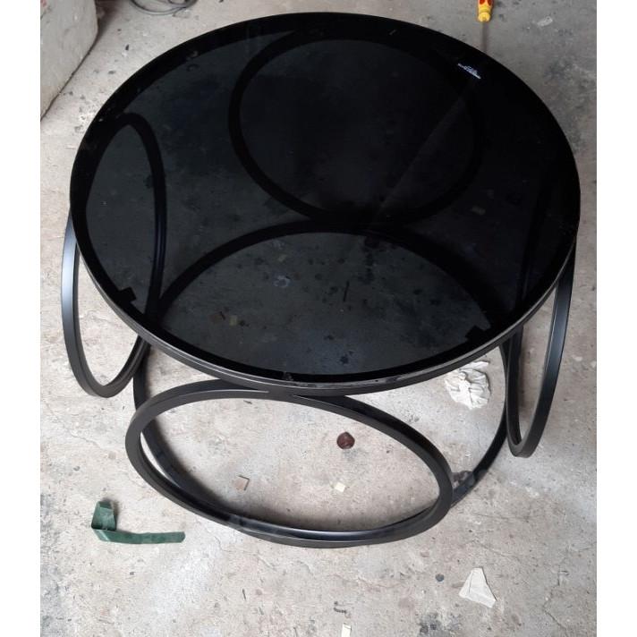 Bàn sofa kính hiện đại hình tròn Juno Sofa