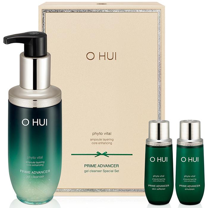 Bộ làm sạch sâu và chống lão hóa da OHUI Prime Advancer Gel Cleanser Special Set 290ml