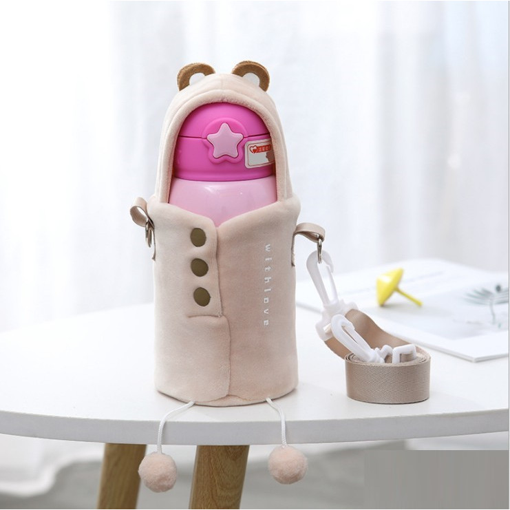 Túi đeo đựng bình giữ nhiệt 500ml Nhóc Thú Cưng