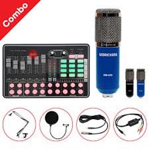 Bộ thu âm mic bm900 waichang + Sound card H9 đầy đủ phụ kiện