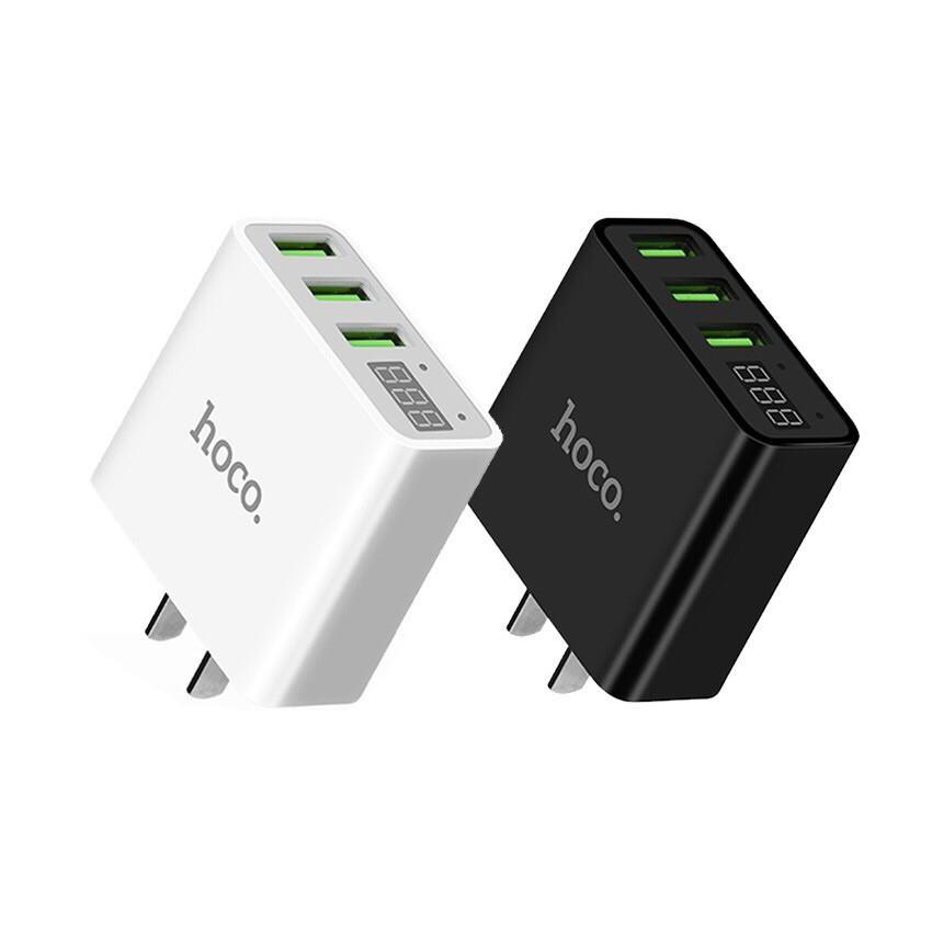 Adapter  Sạc Nhanh Hoco C15 3 USB - Màn Hình LCD - Hàng Chính Hãng - Giao màu ngẫu nhiên