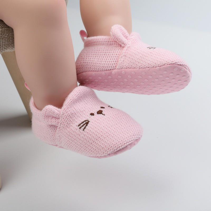 Giầy tập đi hình thú cho bé trai / bé gái sơ sinh size từ 0-12m