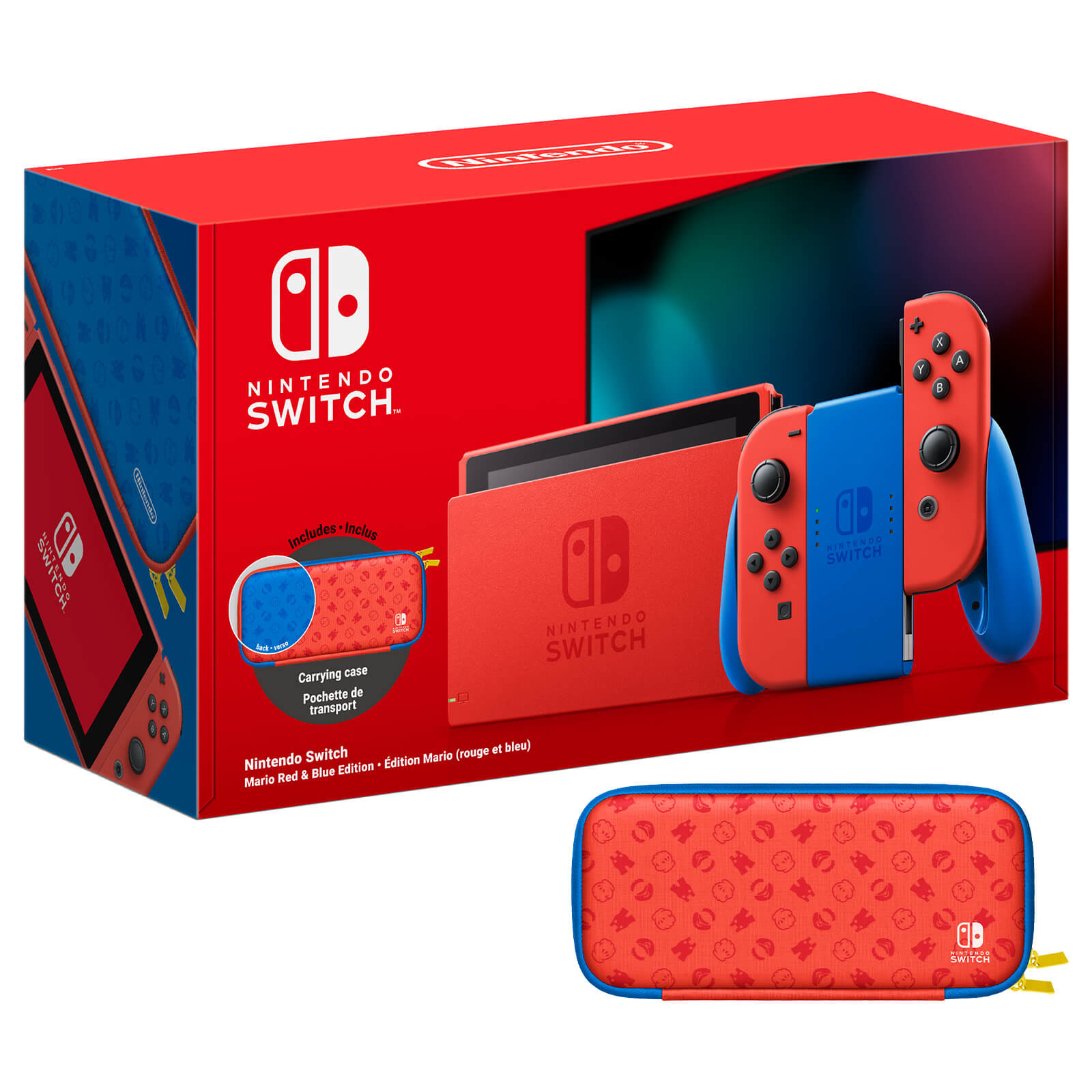 Máy Chơi Game Nintendo Switch Mario Red & Blue Edition - Nhập Khẩu