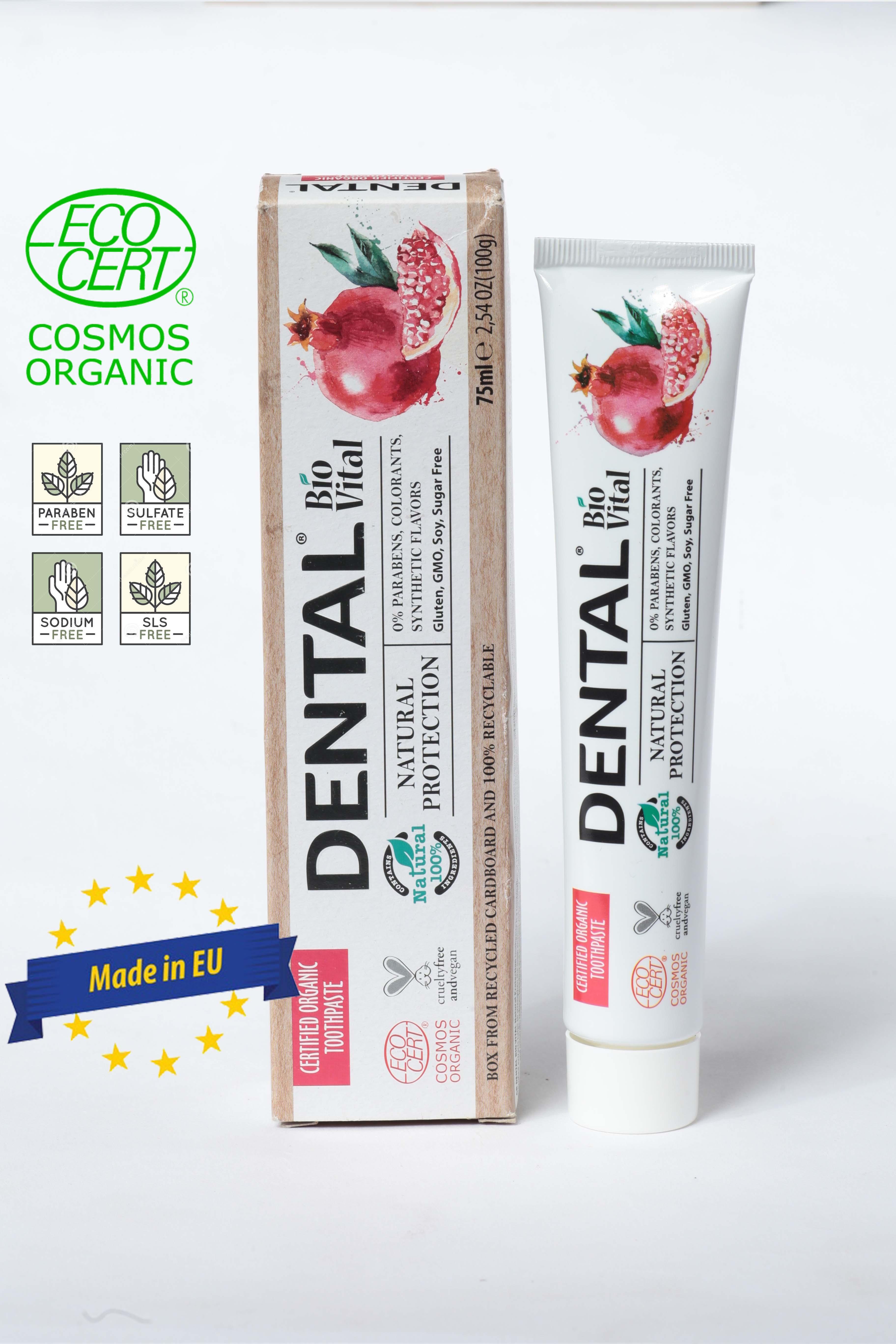 Kem Đánh Răng Hữu Cơ Nhập Khẩu Bảo Vệ Toàn Diện Dental Bio Vital Natural Protection