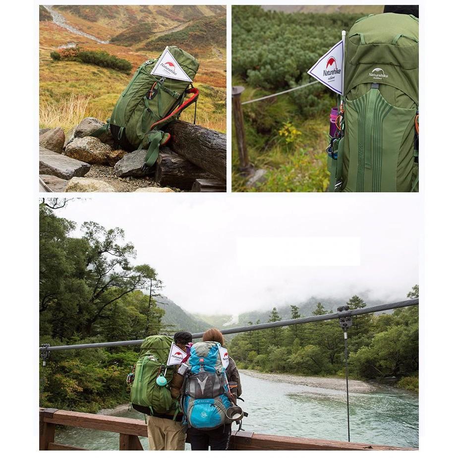 Balo Leo núi Trợ Lực Chuyên Dụng Dã Ngoại Dung tích 55L + 5L Thoáng Khí NatureHike NH16Y020-Q