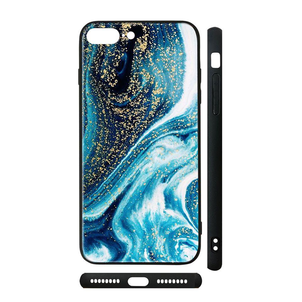 Ốp kính cho iPhone in hình vân đá - dah022 có đủ mã máy - iPhone 5 - 5s