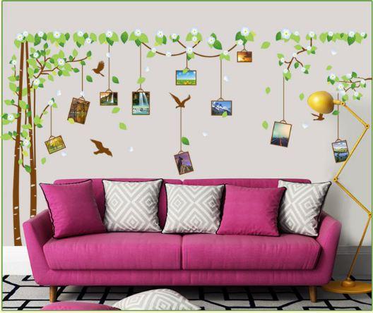Decal cây photo mùa xuân Lala Shop DC2123 (200 x 250 cm)