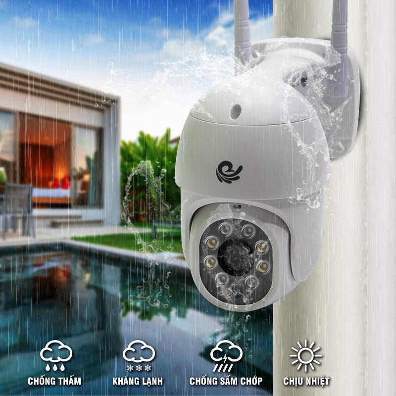 Camera Wifi Quan Sát Ngoài Trời, Có Chống Nước, Độ Phần Giải 2.0Mpx, Dùng App CARECAM PRO, Ban Đêm Có Màu, Model CC8021 PRO - Chính Hãng