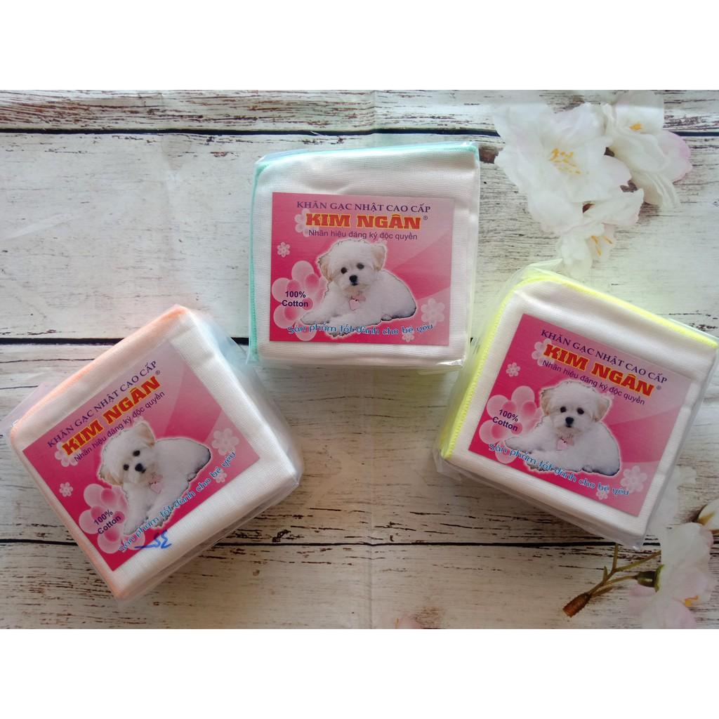 Combo 3 gói khăn sữa 5 lớp cho trẻ sơ sinh con chó trắng (30 cái)25x27cm