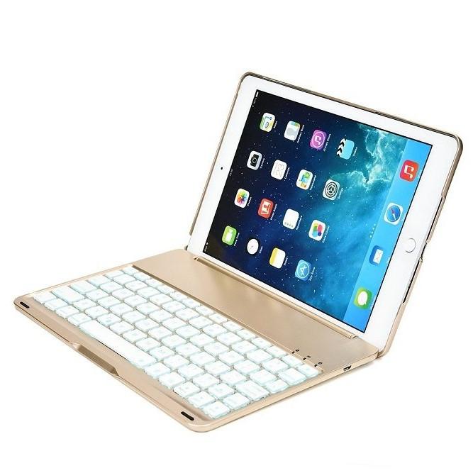 Bàn phím Bluetooth 7 màu đèn cho iPad New 10.2 Inch 2019 - F102 - Thiết kế sang trọng ,bàn phím nhạy