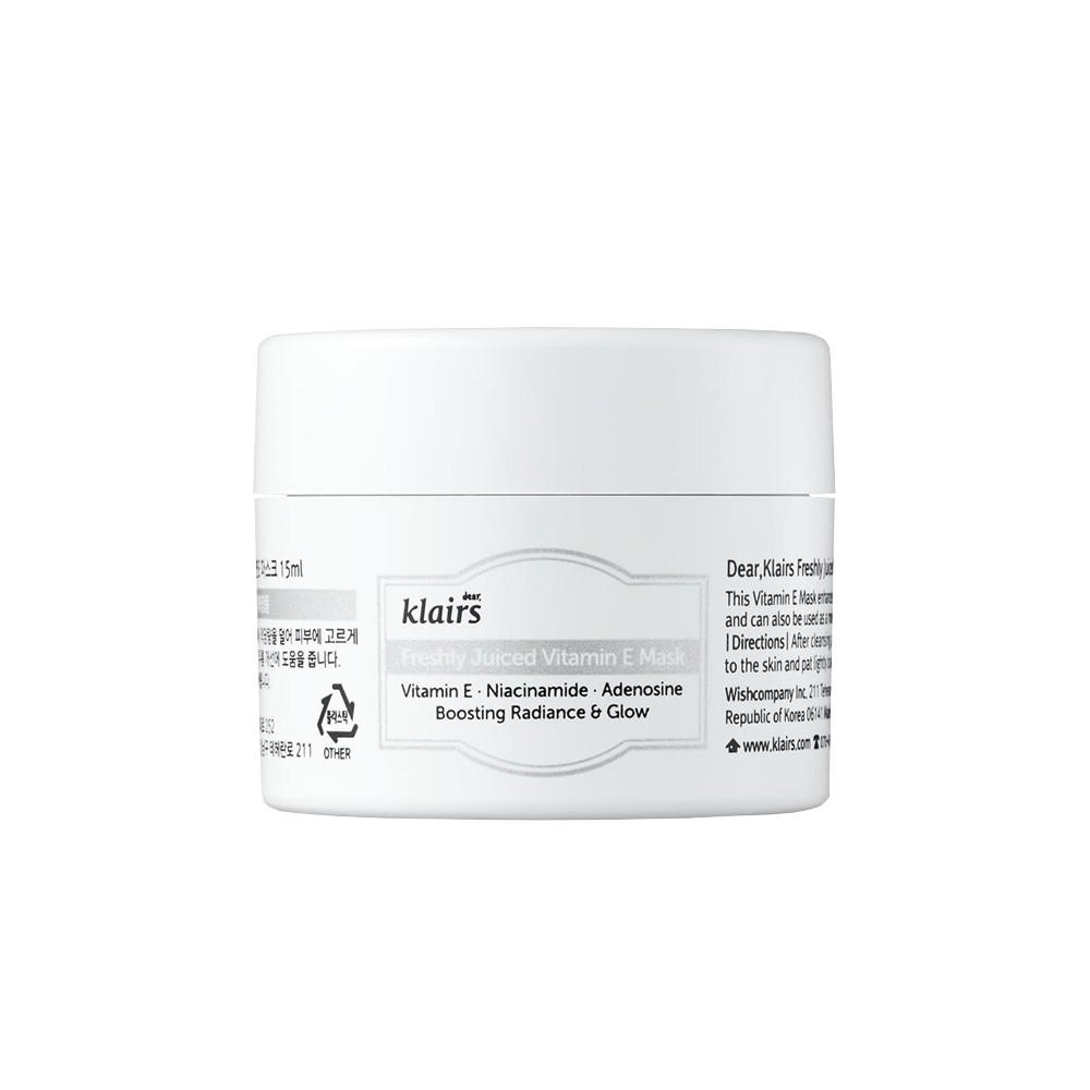 Mặt Nạ Ngủ Dưỡng Sáng Klairs Freshly Juiced Vitamin E Mask 15ml