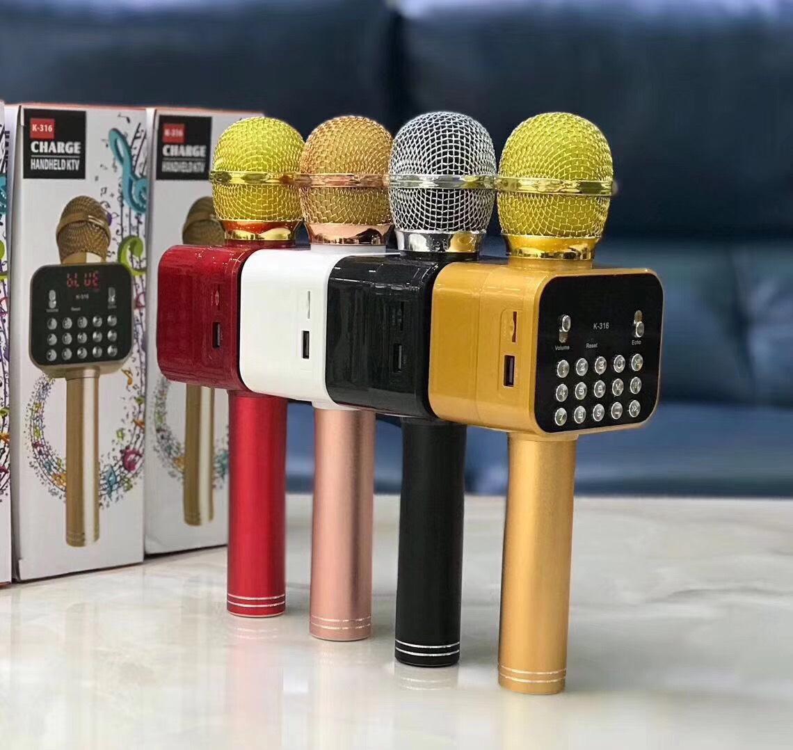 Mic Karaoke Bluetooth K-316 - Hàng Nhập Khẩu (Giao Màu Ngẫu Nhiên)
