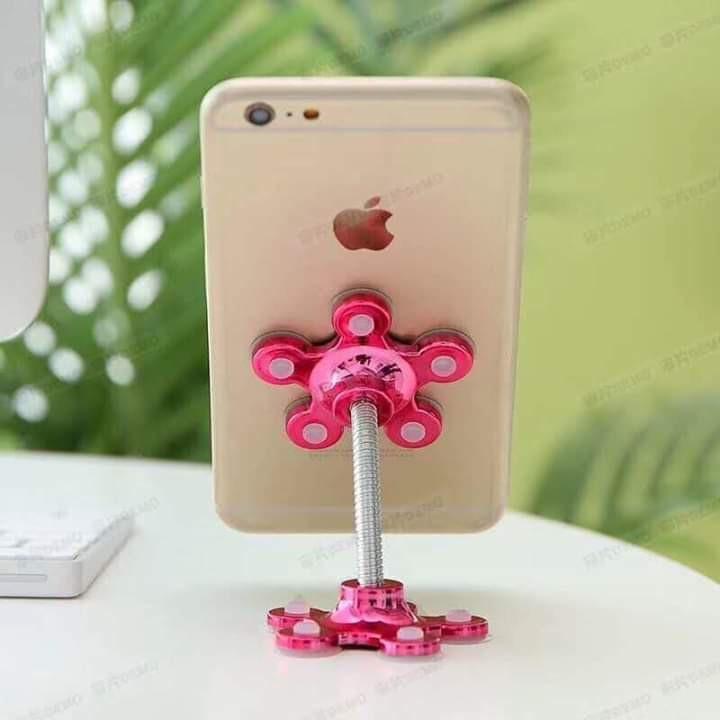 Giá đỡ điện thoại hình bông hoa 2 đầu đế hít ( nhiều màu )