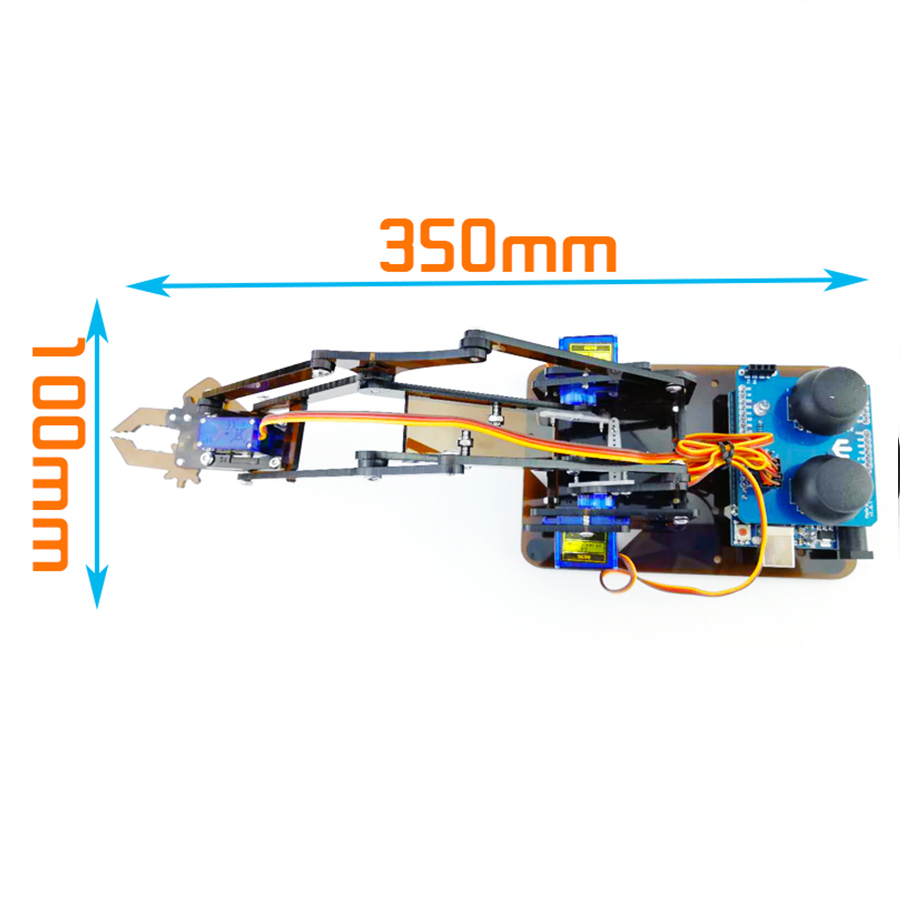 DIY Cánh Tay Robot Arduino Uno(Sản Phẩm Chưa Bao Gồm Board Arduino Và Động Cơ Servo)